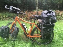 Zwaar beladen fiets!