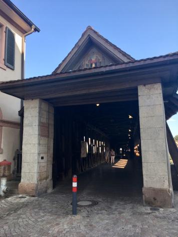 Grensovergang tussen Duitsland en Zwitserland.