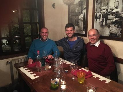 Gastheer Luigi (links) en Matteo van Essers.
