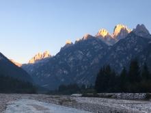 Zonsopgang Dolomiti.