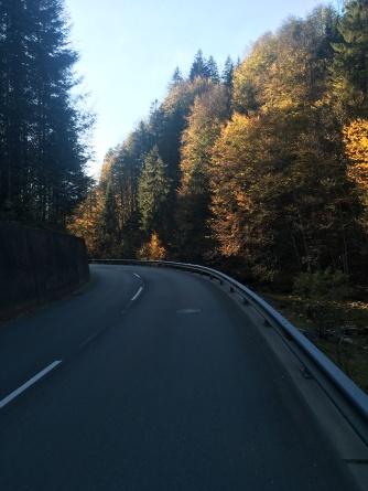 Laatste kilometers in Oostenrijk.