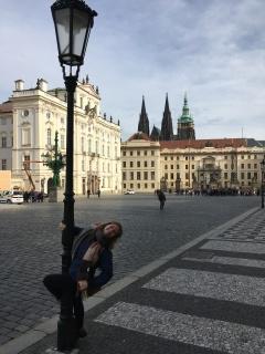 Paaldanseres in Praag.