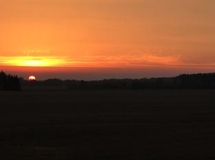 Zonsondergang in Tsjechië.