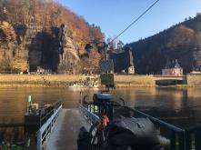Overzetbootje over de Elbe.