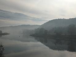 De Elbe in de ochtend.