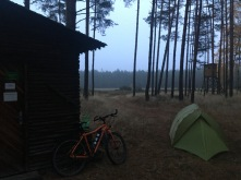 Tent in Duits bos.