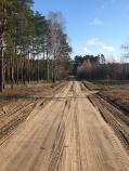 Zandweg in Polen.