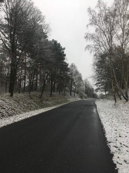 Polen, na de eerste sneeuwval.