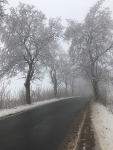 Winterlandschap in Polen.
