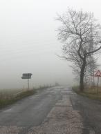Grijs landschap in Tsjechië, net over de grens met Polen.