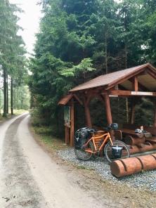 Lunch stop in Tsjechië.