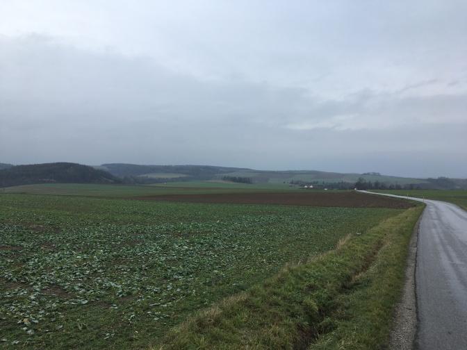 Laatste kilometers in Tsjechië.