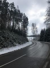 Winterse omstandigheden in Oostenrijk.