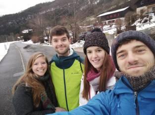 Laura, ik, Isabel, Matthi.