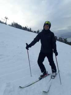 Nacho on skis.