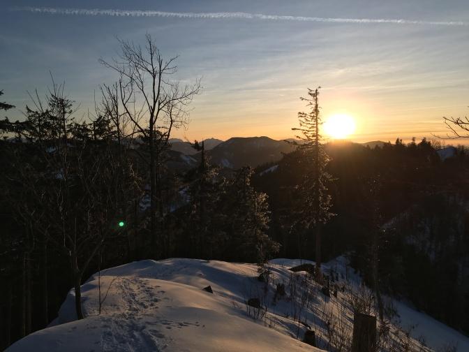 Zonsondergang tijdens een schitterende wandeling.