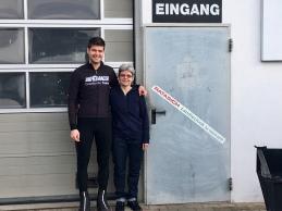 Met de mama van Rita in Nebersdorf.