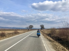 Claudiu on the road.