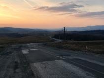 Mooi zonsondergangen de eerste dagen in Roemenië.