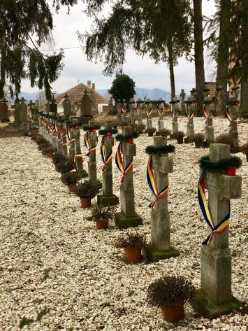 Grafzerken van Roemeense soldaten.