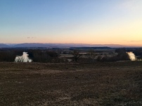 Opnieuw mooie zonsondergang na een koude dag.