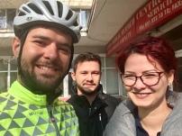 Afscheid van Ioana en haar broer in Boekarest.