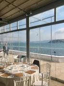 Ontbijt voor persconferentie, naast de Bosporus.