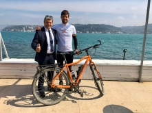 Murat, bicycle mayor of Istanbul.