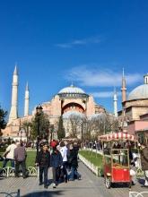 Hagia Sophia met mooi weer.