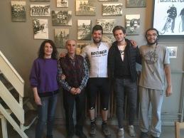 Met Osman, grote Turkse fietser.