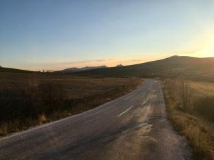 Zonsondergang net voorbij Sivrihisar.