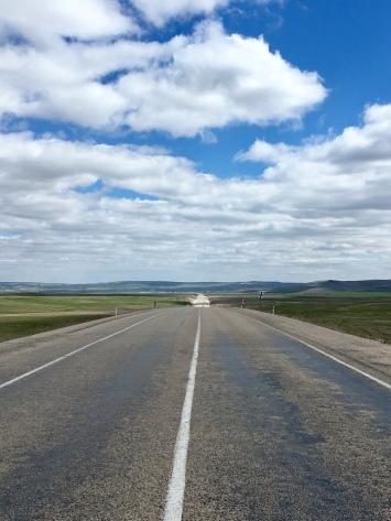 Lange rechte weg (dag richting zoutvlakte).