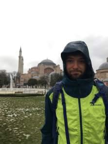 Hagia Sophia met slecht weer.