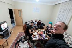 In Kayseri met Joey, Anneliese & Tom. Bij Sergen.