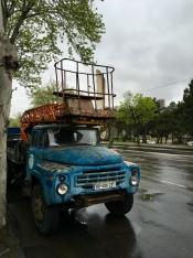 Typische vrachtwagens.