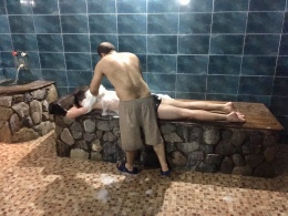 Dik verdiende scrub en massage :).