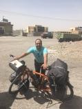 Met mijn fiets.
