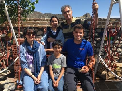 Mijn 'gastfamilie' in Sabzevar.