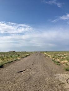 De weg op dag 1 door Turkmenistan.