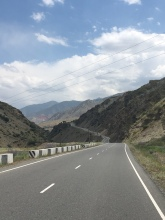 De schitterende weg naar Dushanbe.
