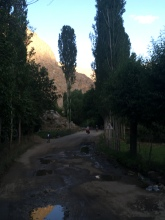 In een dorpje.