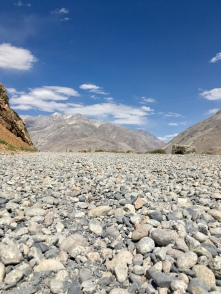 Gravel weg in de Wakhan.