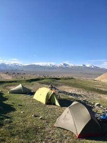 Laatste kampeerplek in de Wakhan vallei.