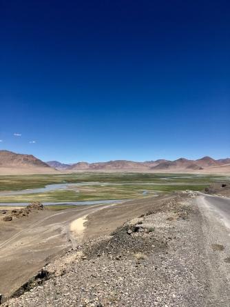 Murghab in een groene vallei (op 3600m).
