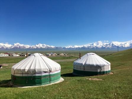 Yurts in Sary-Tash.