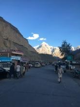 Sost, eerste dorp in Pakistan.