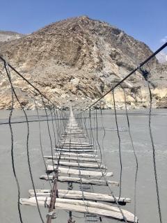 Passu suspension bridge.