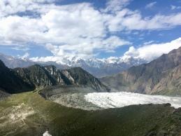 Morene en gletsjer.