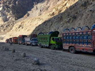 Pakistaanse vrachtwagens.