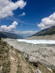 Nanga Parbat glacier.